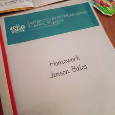 And so it begins... Jenson's first homework. #parentlife