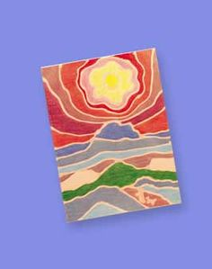 Landscape painting in the style of Ted Harrison - I do a similar lesson - now I have the artist reference! sweet