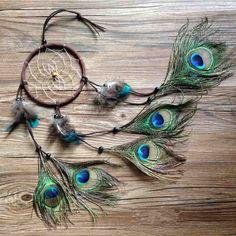 2015 nieuwe fashion gift hot indische pauw dreamcatcher windgong indiase stijl veer hanger dromenvanger gift