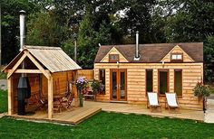 """Tinywood House Three - """"Glamping Warwickshire with Hot Tub"""" via love-glamping.co.uk #interiors #interiordesign #architecture #decoration #interior #home #design #photogrid #bookofcabins #homedecor #decoration #decor #prefab #smallhomes #instagood #compactliving #fineinteriors #cabin #tagsforlikes #tinyhomes #tinyhouse #like4like #FABprefab #tinyhousemovement #likeforlike #houseboat #tinyhouzz #container #containerhouse by compactliving"""