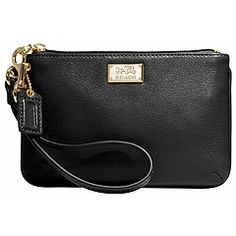 COACH Madison Leather Small Wristlet
