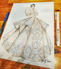 Bit late but HAPPY INDEPENDENCE DAY 🇵🇭. Have time to post this sketch of Filipiniana Gown. Hope you guys like it. -markers x pen&ink and… Gown Drawing, Dress Design Drawing, Dress Design Sketches, Fashion Design Drawings, Fashion Sketches, Modern Filipiniana Gown, Filipiniana Wedding, Fashion Drawing Dresses, Fashion Illustration Dresses