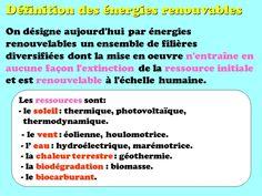Les énergies renouvelables : définition