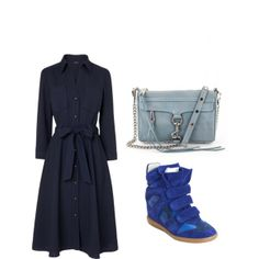 """shades of blue"" by noanyedges on Polyvore"