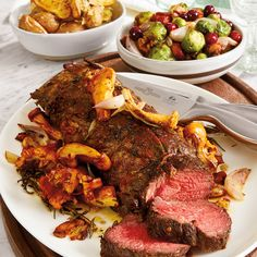 Prepare an unforgettable holiday feast with this wonderfully flavorful beef roast at the center. For a truly spectacular meal, serve with roasted Brussels Sprouts with Cranberries, Walnuts and Pancetta and a side of Parmesan Fingerling Potatoes.