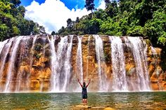 The 3-tiered Tinuy-an Falls in Bislig, Surigao del Sur (Philippines)