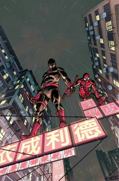 Daredevil and Spider-Man by Giuseppe Camuncoli