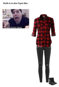 """""""Trip to Hot Topic"""" by spacecupcak3 ❤ liked on Polyvore featuring Paige Denim and LE3NO"""