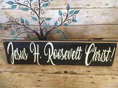 A personal favorite from my Etsy shop https://www.etsy.com/listing/502247000/jesus-h-roosevelt-christ-clair-randall
