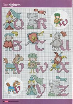 Medieval alphabet part 3 free cross stitch patterns