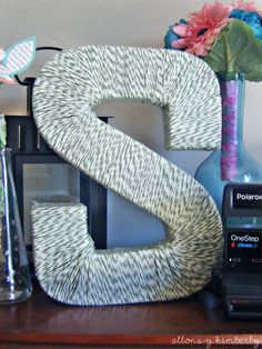Yarn Wrapped Letter VERY GOOD TUTORIAL!!!