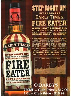 fire eater whisky | Free tastings at O'Darby's