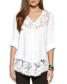 Karen Kane Lace Trim Blouse | Bloomingdale's
