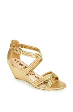 Do I renege on my gold flats for these instead? Sam Edelman 'Sloan' Sandal available at #Nordstrom