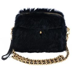 Rabbit Fur Rumor Cross-body ($395) ❤ liked on Polyvore featuring bags, handbags, clutches, borse, sacs, women, wristlet purse, cell phone purse crossbody, wristlet clutches and hand bags