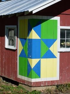 Interesting idea for placement~~Barn Quilts and the American Quilt Trail: December 2010
