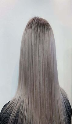 Ash silver highlighted hair color Silver Highlights, Hair Color Highlights, Pretty Hair Color, Hair Colour, Highlighted Hair, New Hair Colors, Pretty Hairstyles, Ash, Long Hair Styles
