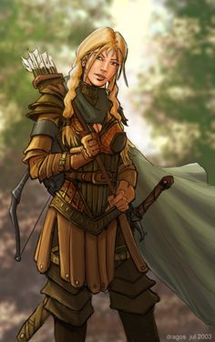 Female Pathfinder Half-Elf Ranger |  core class striker primary ability dex