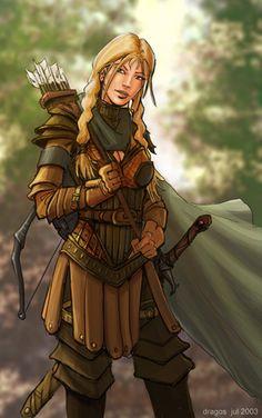 Female Pathfinder Half-Elf Ranger |  core class striker primary ability dex