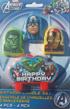 Marvel The Avengers Assemble Mini Molded Birthday Candle Set - List price: $8.99 Price: $4.18