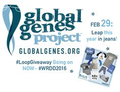 Join us in jeans for #WRDD2016 and leap into Global Genes #LoopGiveaway ! End your February each year supporting over 7,000! Enter at: http://instagram.com/bitzybabyofficial