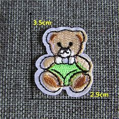 FairyTeller Cartoon Animalpattern Patch Hot Melt Adhesive Applique Embroidery Patch Diy Clothing Accessory Patch -- For more information, visit image link.