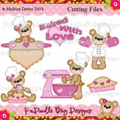 Cutting Files Artwork by Melissa Deuss www.kadoodlebugdesigns.com