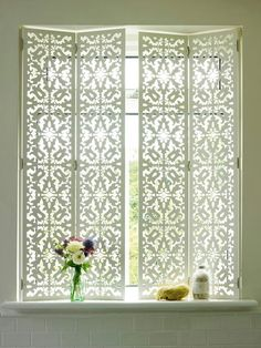 New Bathroom Window Treatments Privacy Interior Shutters 60 Ideas Bathroom Window Treatments, Bathroom Windows, Bathroom Window Privacy, Bathroom Blinds, Picture Window Treatments, Bathroom Wallpaper, Wallpaper Door, Bath Window, Window Treatments Living Room Curtains