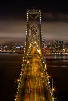 Bay Bridge Overlook is stunning at night. #city