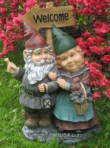 Gabby and Herman Garden Gnome Welcoming Committee ❤ G N O M E S ❤