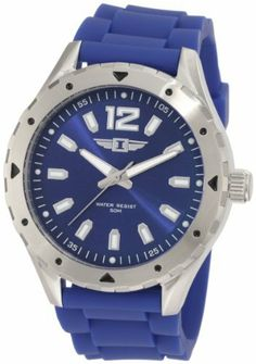 Invicta Men's 20027-002 Blue Dial Blue Silicone Watch Invicta. $55.79. Mineral crystal; brushed and polished stainless steel case; blue silicone strap. Silver tone second hand. Water-resistant to 50 M (165 feet). Blue dial with silver tone hands, hour markers and arabic numeral 12; luminous; unidirectional stainless steel bezel. Japanese quartz movement. Save 86% Off!