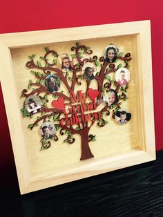 Personalised family tree frame mdf wood by WaterworthCreations