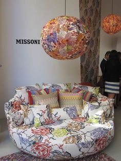 Missoni Home Collection... rounded love seat #love #bedifferent