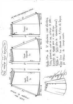 Saia envelope evasê com abotoamento frontal | DIY - molde, corte e costura - Marlene Mukai
