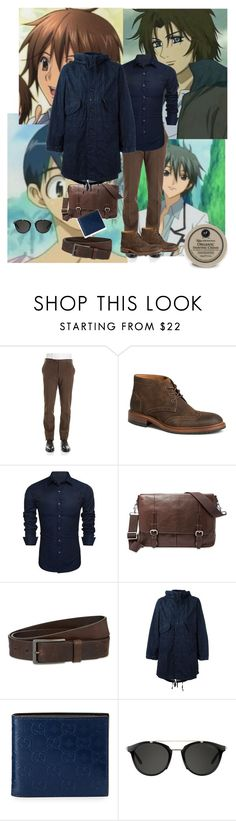 """man"" by maitenara ❤ liked on Polyvore featuring éS, Trask, FOSSIL, HUGO, Engineered Garments, Gucci, Carrera, Taylor of Old Bond Street, men's fashion and menswear"