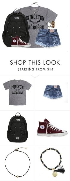 """""""I'm way too good to you"""" by kaley-ii ❤ liked on Polyvore featuring Levi's, The North Face, Converse and Michael Kors"""