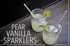 Vanilla Pear Sparklers