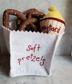 Pottery Barn Kids Soft Pretzel Set, Soft Felt Kitchen Play Food #PotteryBarn