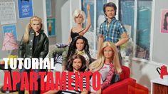 Tutorial Barbie - Como fazer um APARTAMENTO  para sua Barbie, Monster Hi...