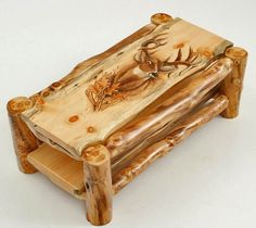 Natural Log Furniture - Aspen Mountain Man Coffee Table - Hand Carved Buck with . - Natural Log Furniture – Aspen Mountain Man Coffee Table – Hand Carved Buck with Oak Leaves Show - Rustic Log Furniture, Cabin Furniture, Handmade Furniture, Diy Furniture, Upholstered Furniture, Western Furniture, Antique Furniture, Modern Furniture, Furniture Design