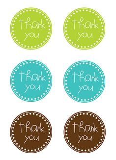 Thank You (Free Printable Tags)