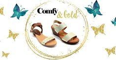 Gold n' comfy πέδιλα για εσάς που ακολουθείτε την μόδα χωρίς να θυσιάζετε την άνεση… <3 http://www.step-point.gr/gynaikeia/pedila