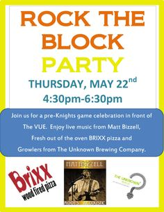 Join us Thursday, May 22 from 4:30-6:30pm for our Rock the Block party. We will be in front of the leasing office with music, food and drinks. See you there!
