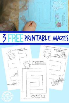 3 {Adorable} Printable Mazes for Kids !!