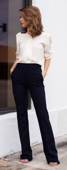 The Style Bungalow Black And White Working Girl Timeless Style