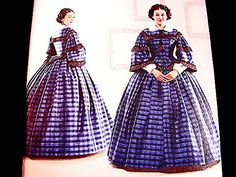 Historical Womens Civil War Dress Pattern Gone With The Wind Dress Costume Pattern Pattern by PatternsFromThePast