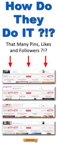 How DO They Do It? That many Pins, Likes and Followers?!?