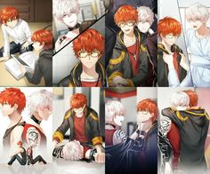 Its 707 and unknown from mystic messenger