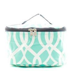 Monogrammed Cosmetic bag MINT by SoBlessedMonogrammed on Etsy