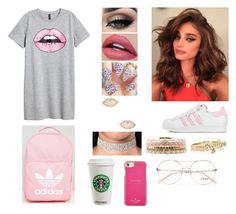 """Lips Are Movin'"" by divinemaboundou ❤ liked on Polyvore featuring adidas, JFK, Tiger Mist, Kate Spade, Charlotte Russe and Chloé"